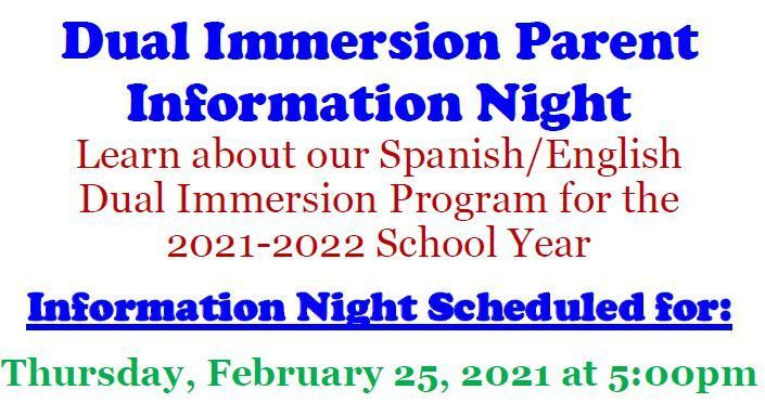 Dual Immersion Parent Information Night